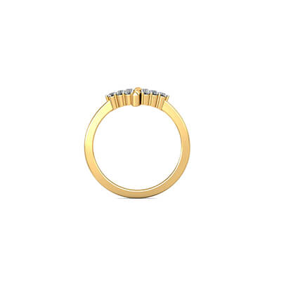 His and her yellow gold wedding ring online