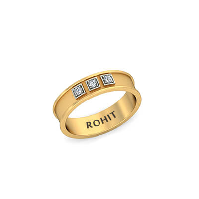 Buy Unique Mens Wedding Rings In Gold Diamond Online India