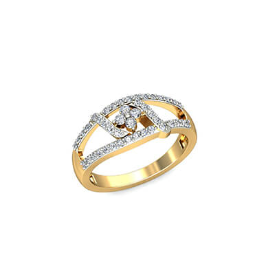 Vivacious Name Ring For Women AuGrav