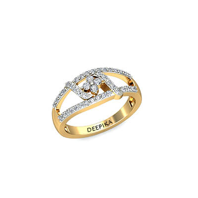 Yellow Gold ring for engagement with name embossed