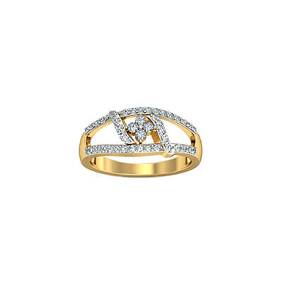 Diamond rings for women for her birthday after wedding from husband. Available in 18K and 22k