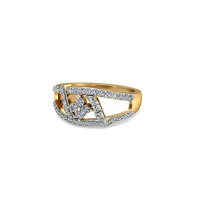Diamond ring for women with engraved name. Free shipping to delhi,mumbai,bangalore and coimbatore
