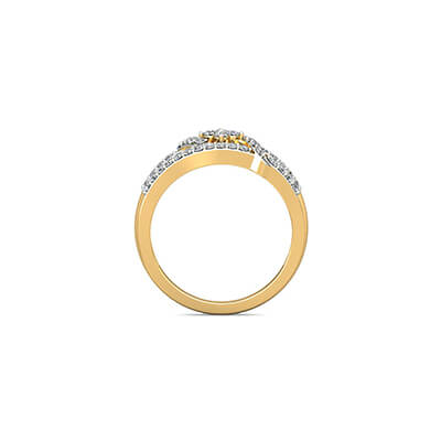 Gold ring gift to wife for wedding anniversary. Available in 18k 22k and 14k