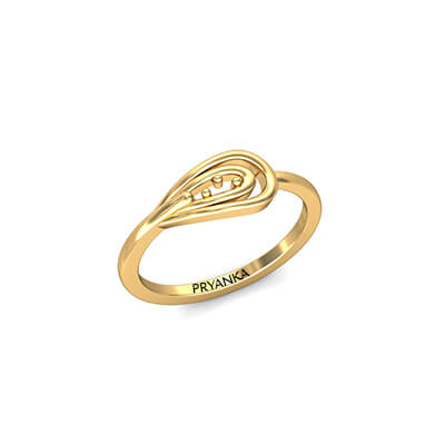Glorious Light Weight Gold Ring AuGrav