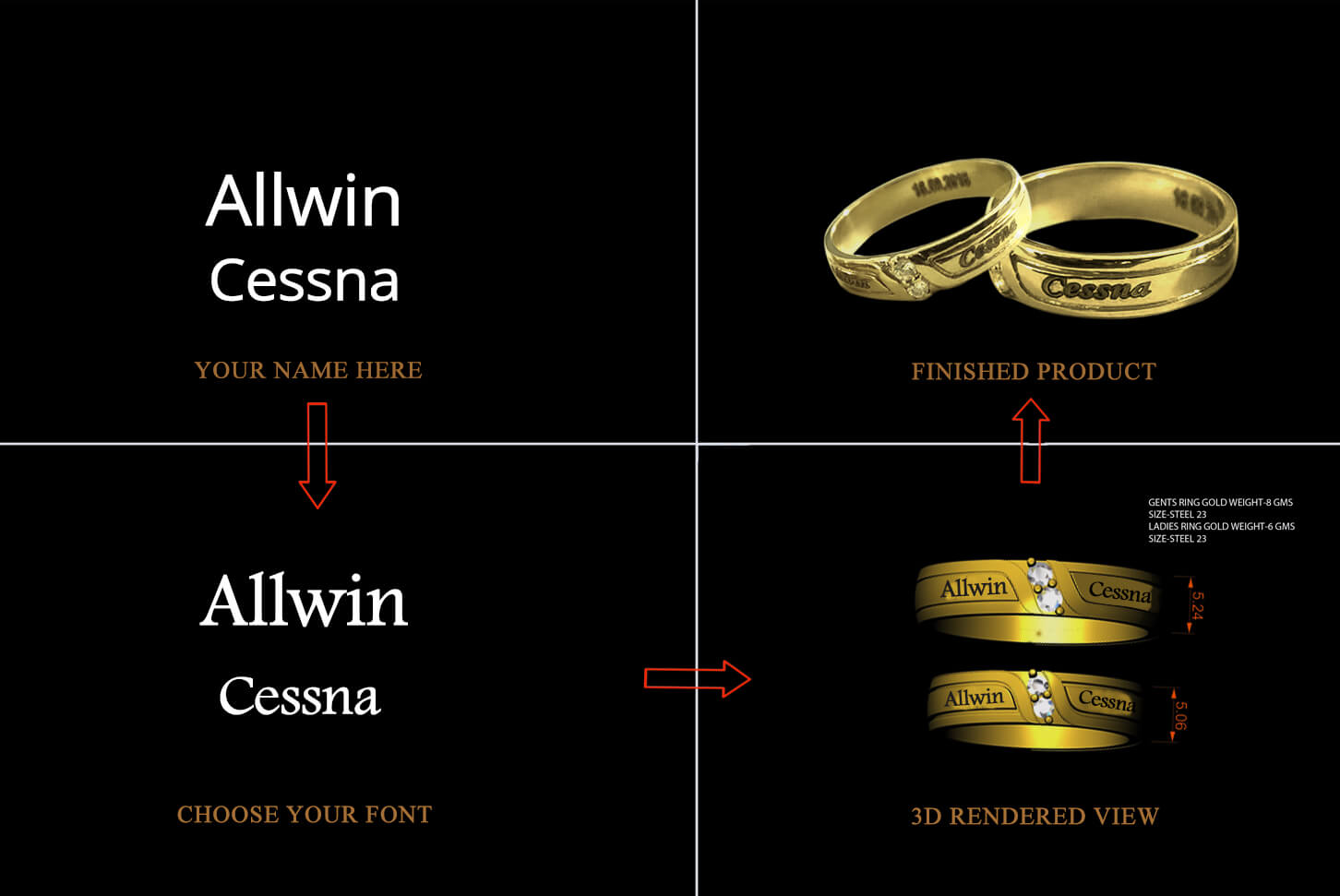 How to get name engraved rings online india