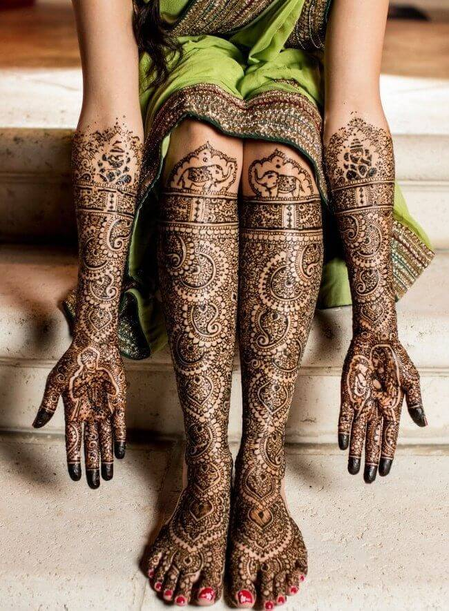 Pinterst indian bride mehandi desgins
