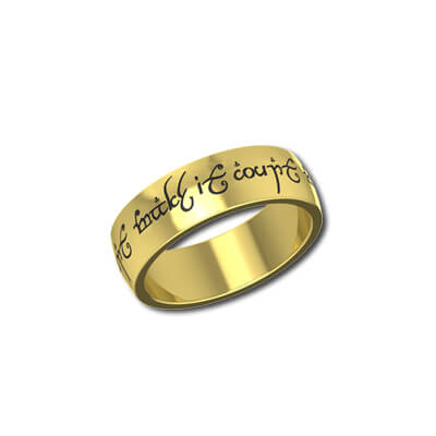 The one ring in yellow gold for men and women. Available in 18K and 22K gold