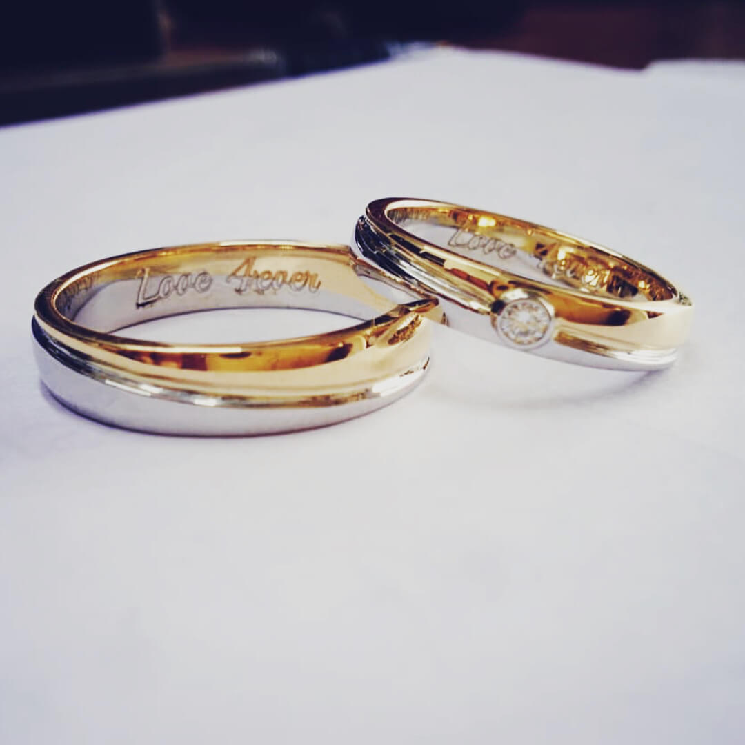 Couple Band Rings Gold | Best Wedding Band Trends