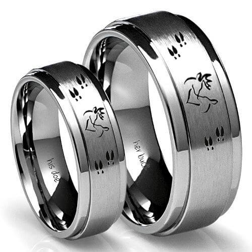 Buck and Deo Ring set for bride and groom