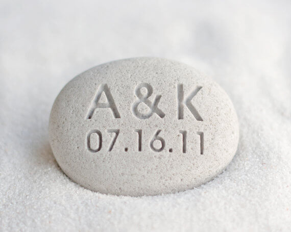Engraved stones for husband- anniversaey gift
