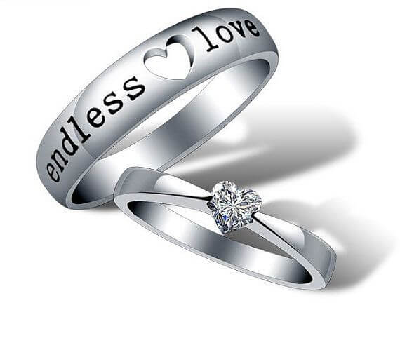 His and Her Heart Matching Rings- Unique Desings