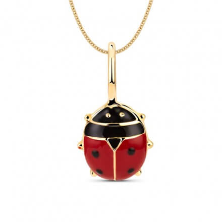 Ladybird_Pendant for kids in gold