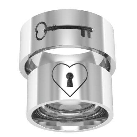 My Heat Key Matching Rings For Couples