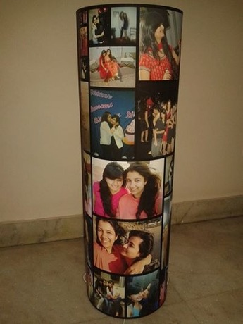 Photo lamp for first anniversary gift