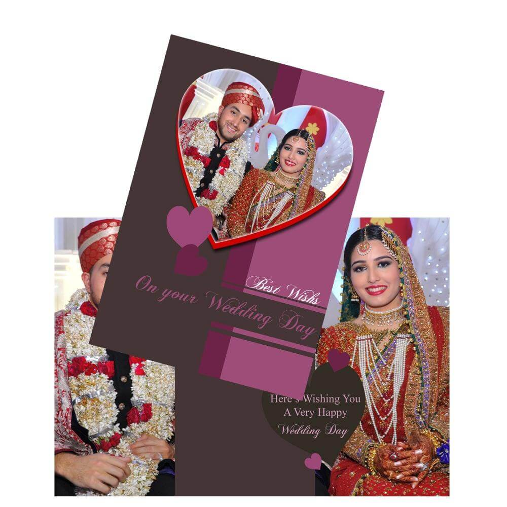 Gifts For Him India/personalized Best Wishes Wedding Card Giftsmate ...