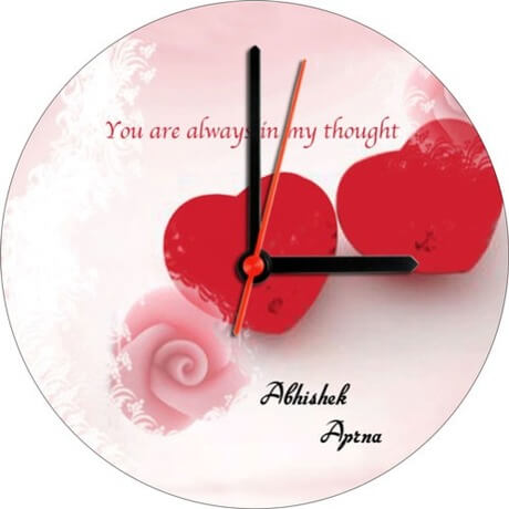 Always together wall clock for her on feb 14
