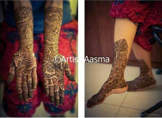 Bridal Mehndi Artist In Bangalore : The best bridal mehandi artists in bangalore