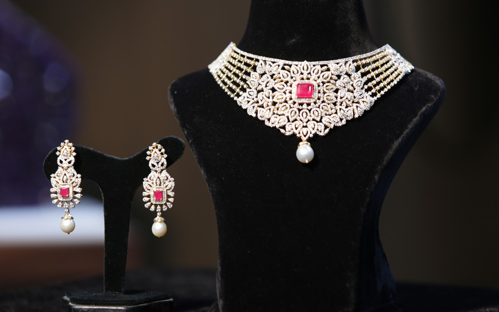 Bridal necklace set by manepally hyderabad
