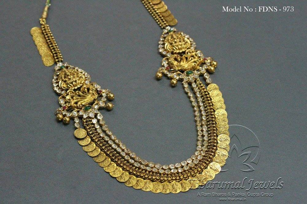 Diamond necklace- kasu maalai from Tibarumal hyderabad