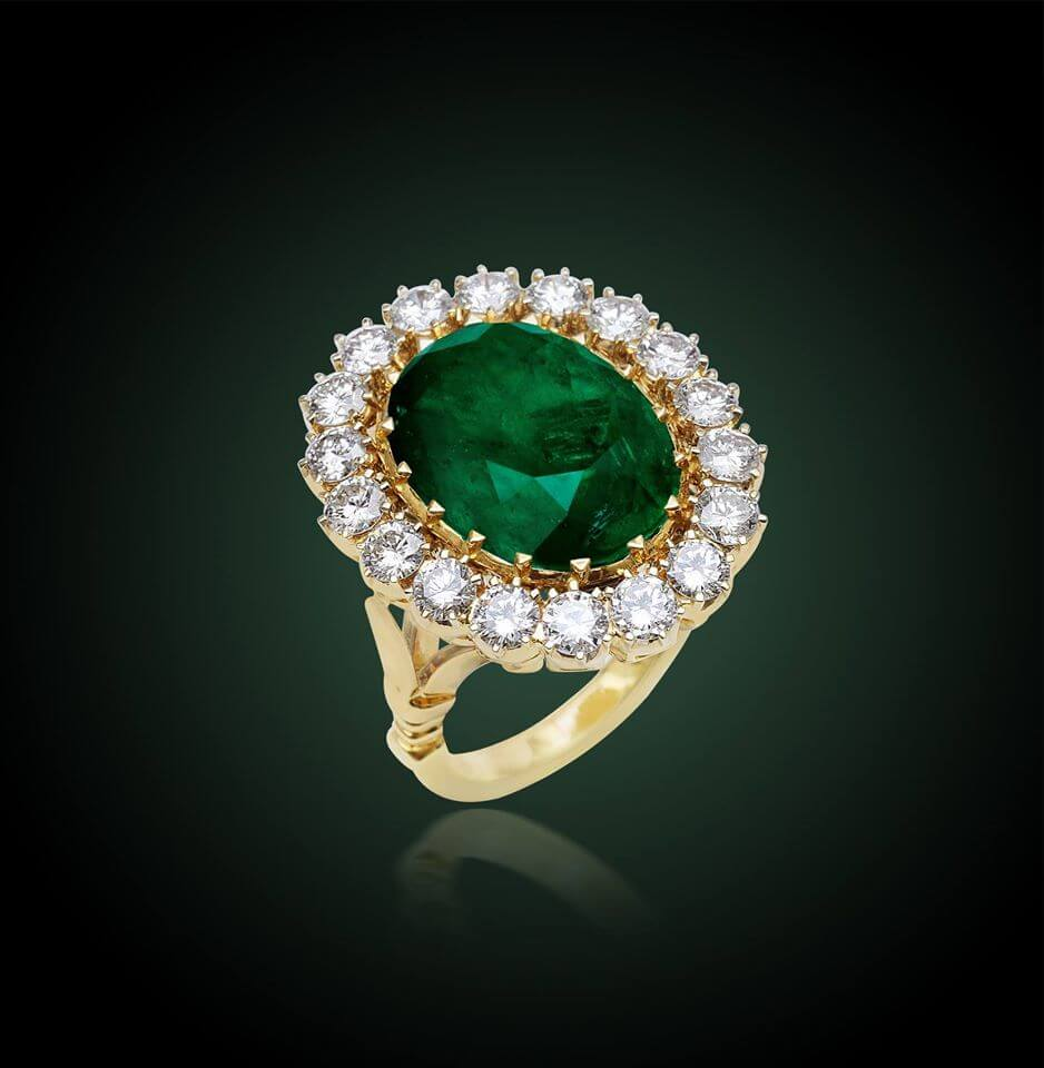 Diamond ring with center stone by shree jewellers hyderabad