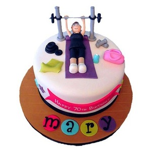 Gift idea with gym cake on valentine day