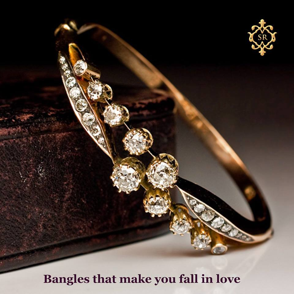Gold bangales for indian bride by shriram diamond hyderabad