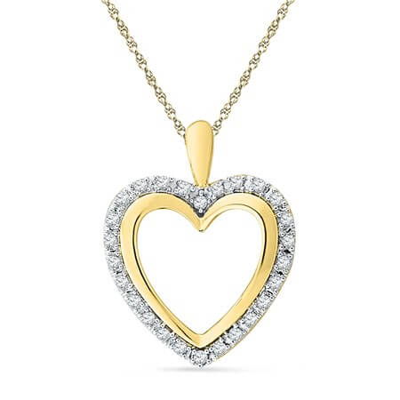 Heart shaped pendant by jp pearls