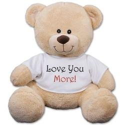 I loye you more teddy bear for her valentines day gift