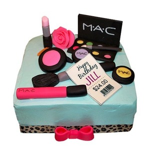 Makeup cake for her as valentines day gift