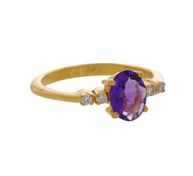 amethysts gold rings from krishan pearls hyderabad