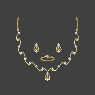 designs of gold necklace sets