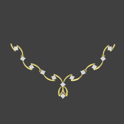white stone necklace designs in gold with price