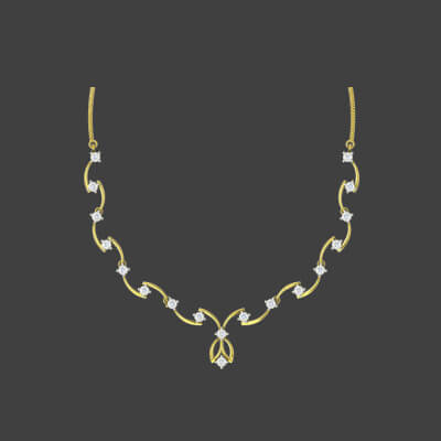 engagement gold necklace