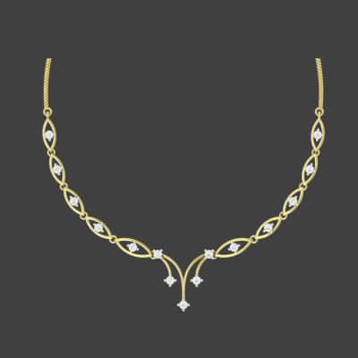 modern gold necklace designs