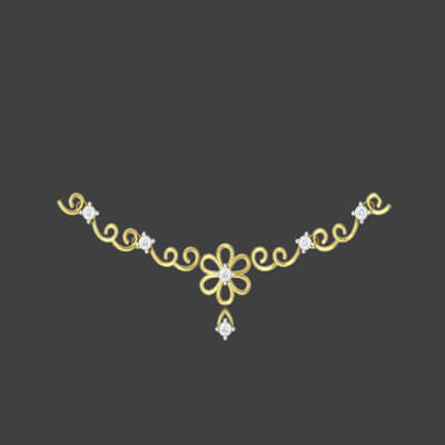 gold necklace designs with price in india