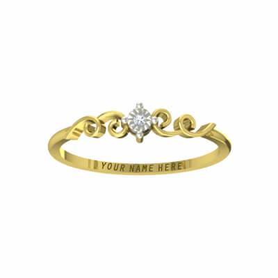 gold wedding bands engraved