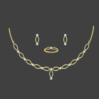 simple necklace designs in gold india