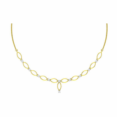 modern gold necklace set