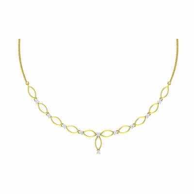 modern gold necklace set