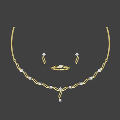 simple diamond necklace indian designs