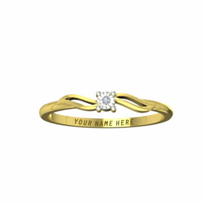 engagement rings with name on it gold