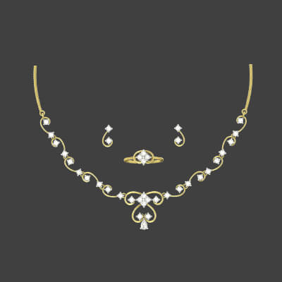simple gold necklace designs india