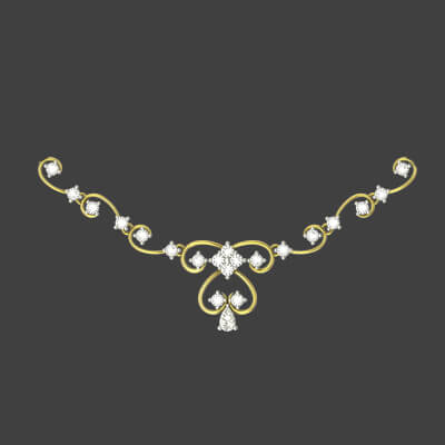 simple diamond necklace designs india