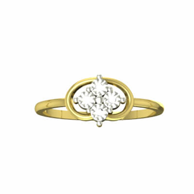personalised wedding ring in gold for women