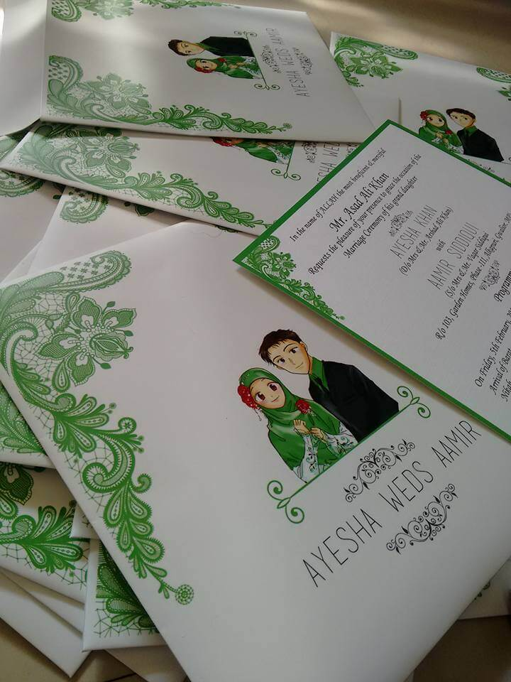 Card affairs dot in - Wedding cards