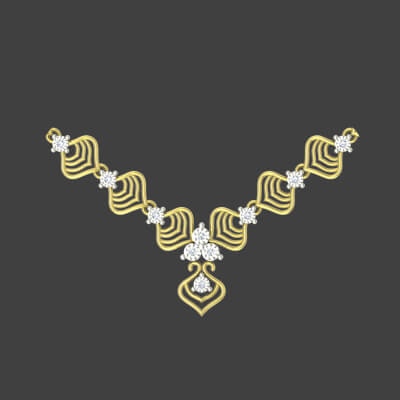 modern gold necklace designs for wedding