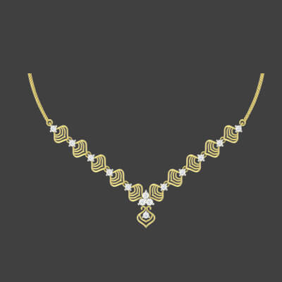 diamond necklace designs with price