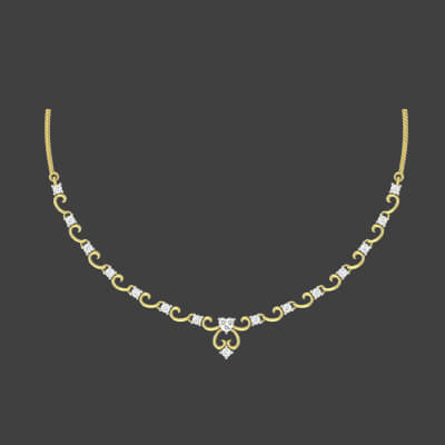 gold necklace set designs with price in india