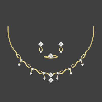 pure diamond necklace price