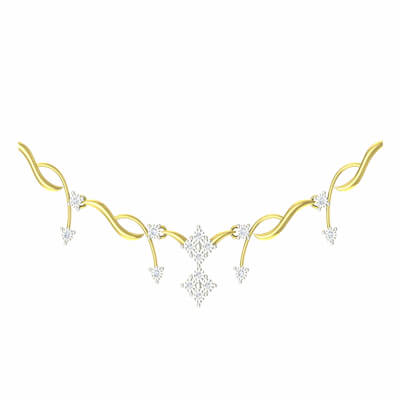 gold necklace design with price in india